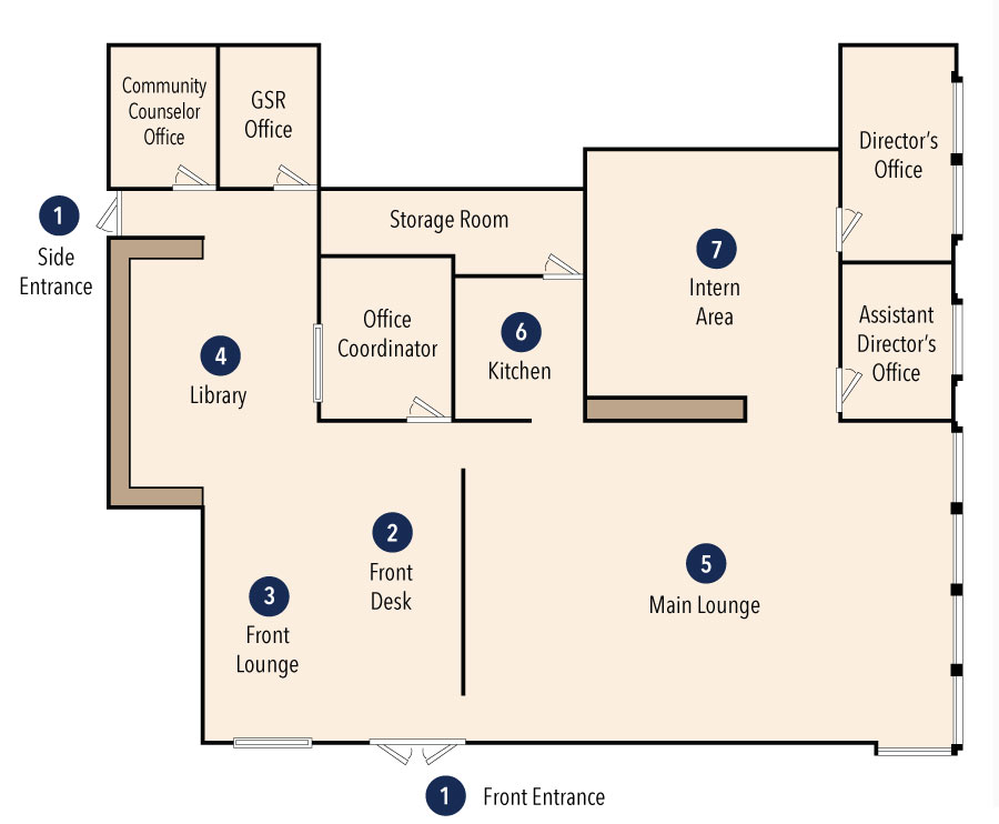 Floor Plan of LGBTQIA Resource Center