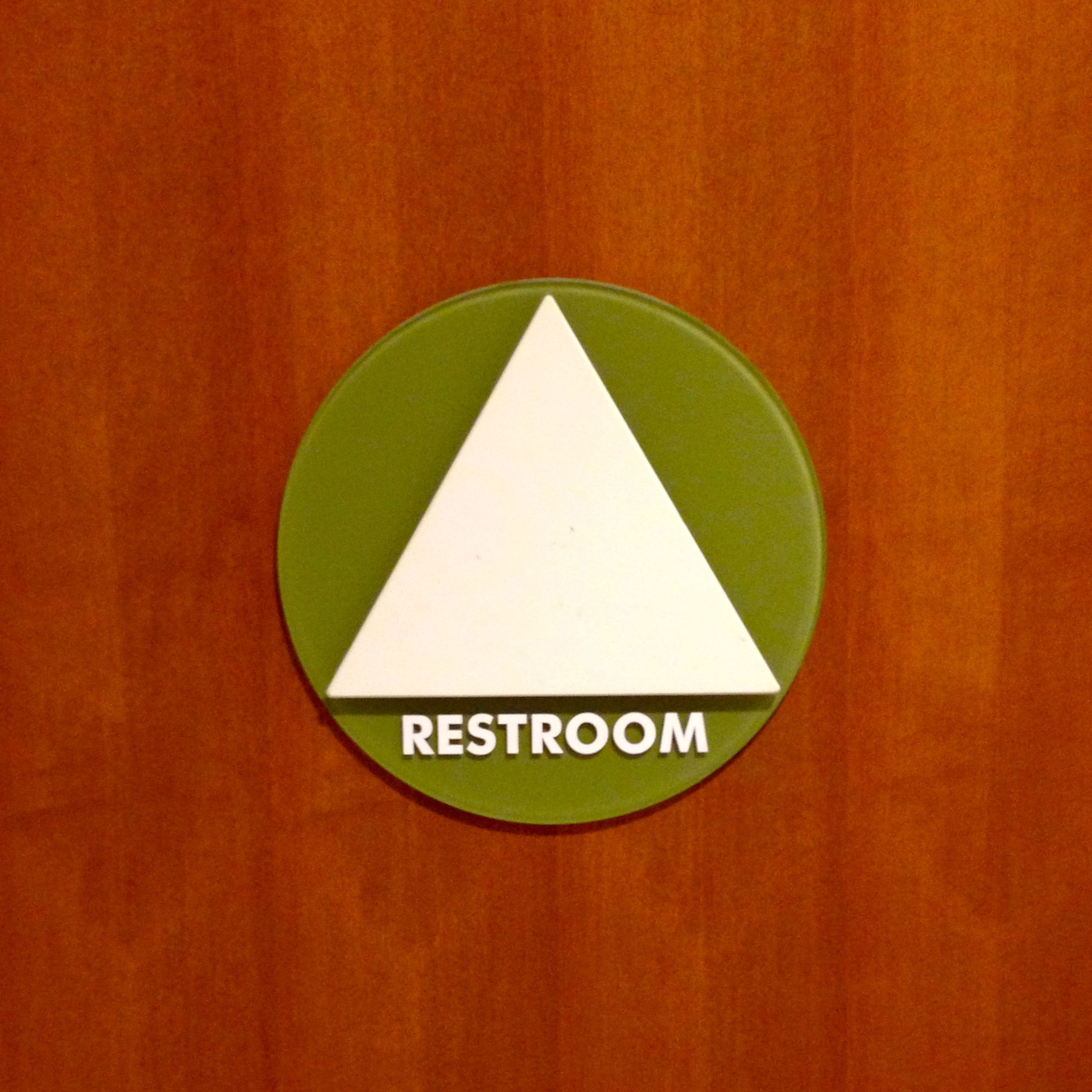 Gender-Inclusive Restrooms Door Sign