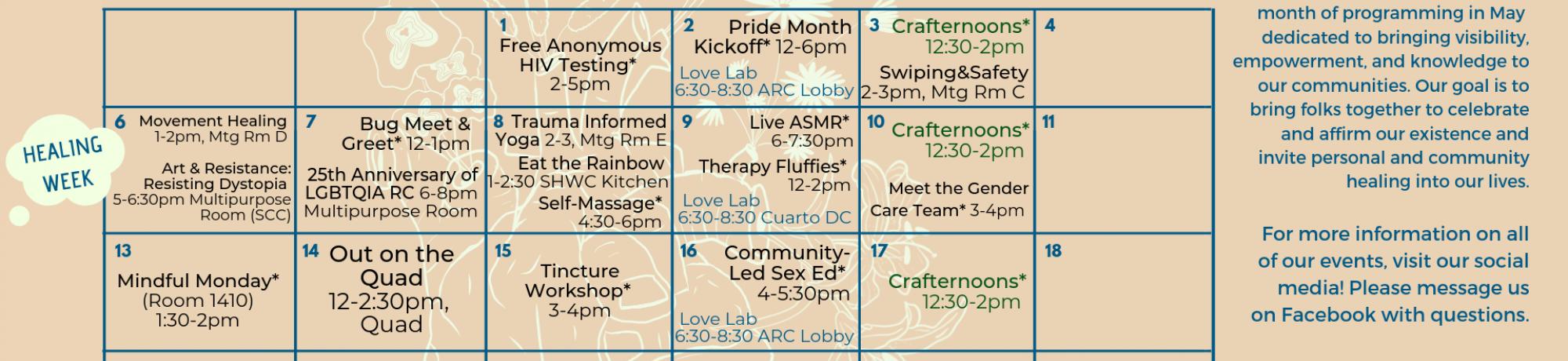 Pride Month Calendar 2019.Pride Month Lgbtqia Resource Center